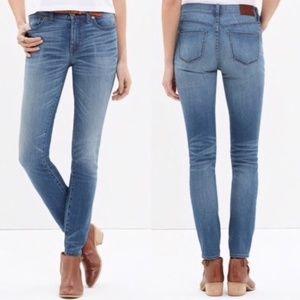 Madewell High Riser Skinny Jeans in Thom Wash